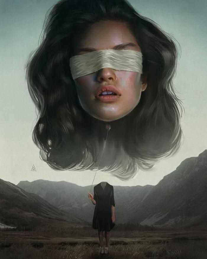 Женщины в картинах Aykut Aydogdu