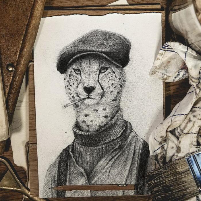 Семейные портреты животных Mike Koubou