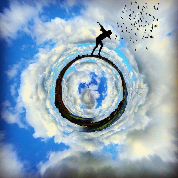 Удивительные коллажи Ali Jardine, сделанные на мобильном телефоне
