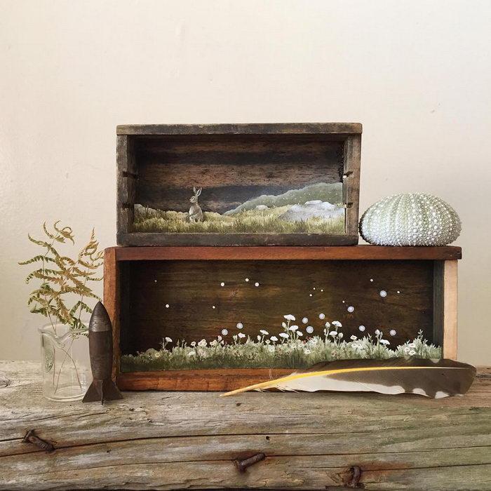 Рисунки в старых ящиках Allison May Kiphuth