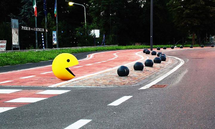Смешной стрит-арт Fra.Biancoshock