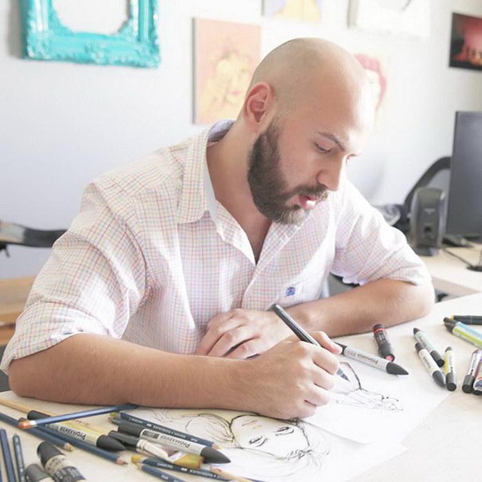 Модный дизайнер Shamekh Bluwi и его необычные эскизы