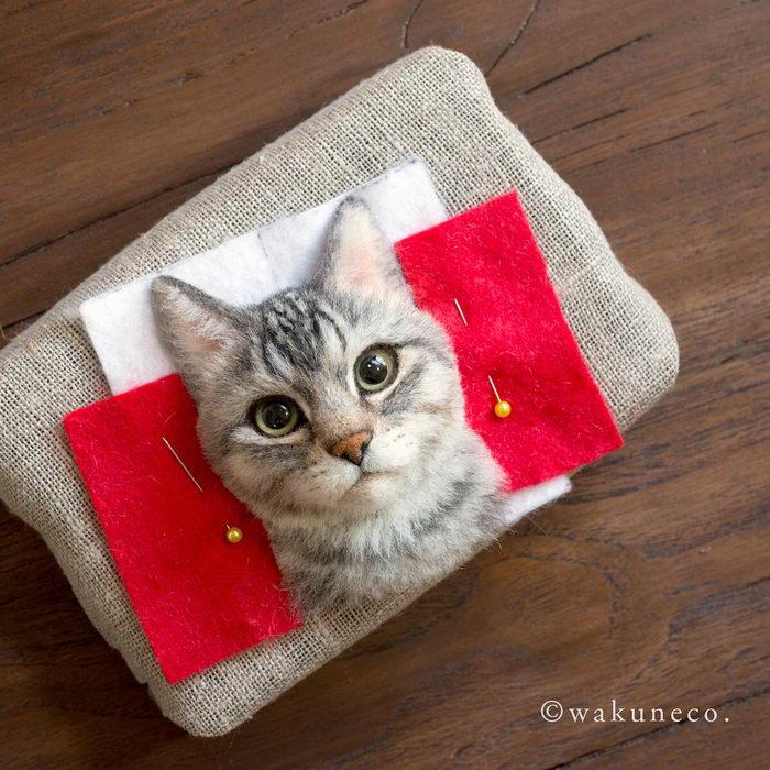 Невероятно реалистичные шерстяные котята Wakuneco