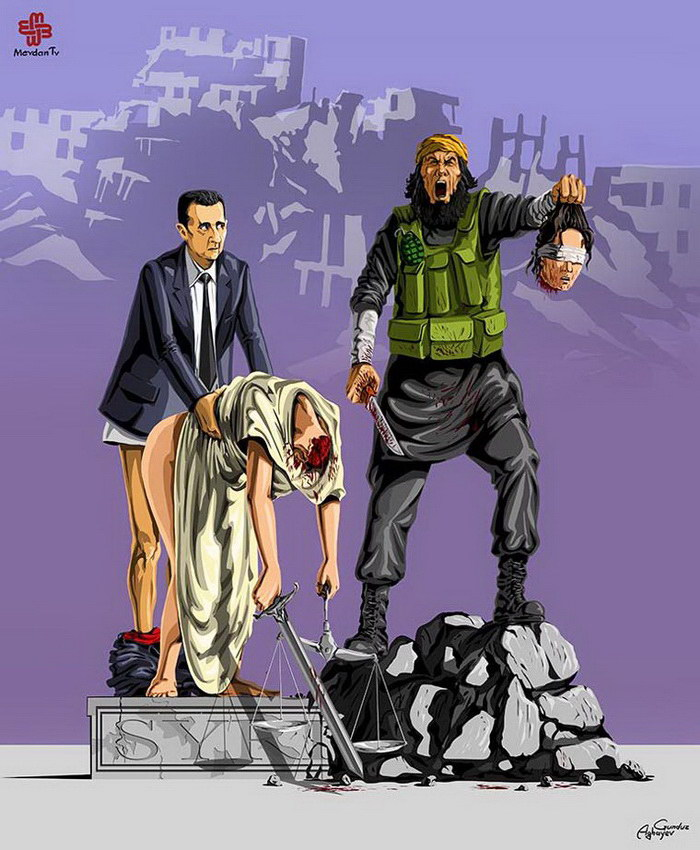 «Смерть Фемиды»: иллюстрации Gunduz Agayev