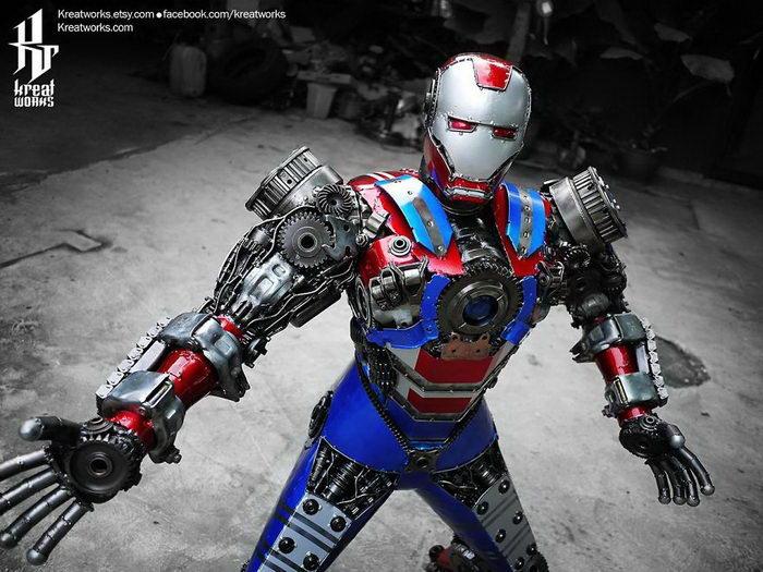 Роботы из металлического мусора: скульптуры Kreatworks