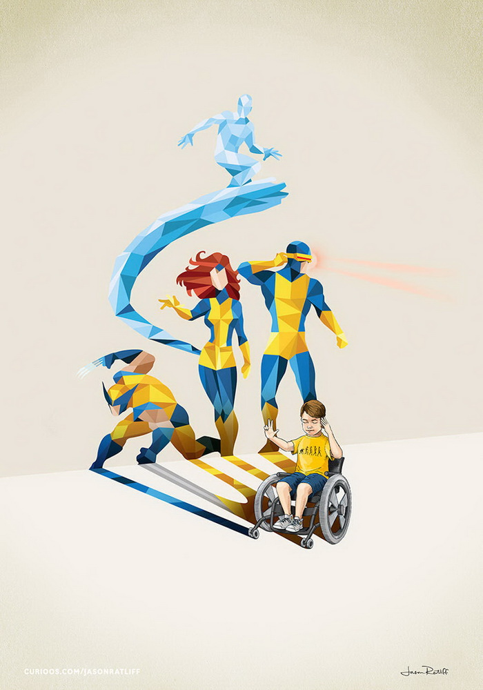 Малыши-супергерои: иллюстрации Jason Ratliff