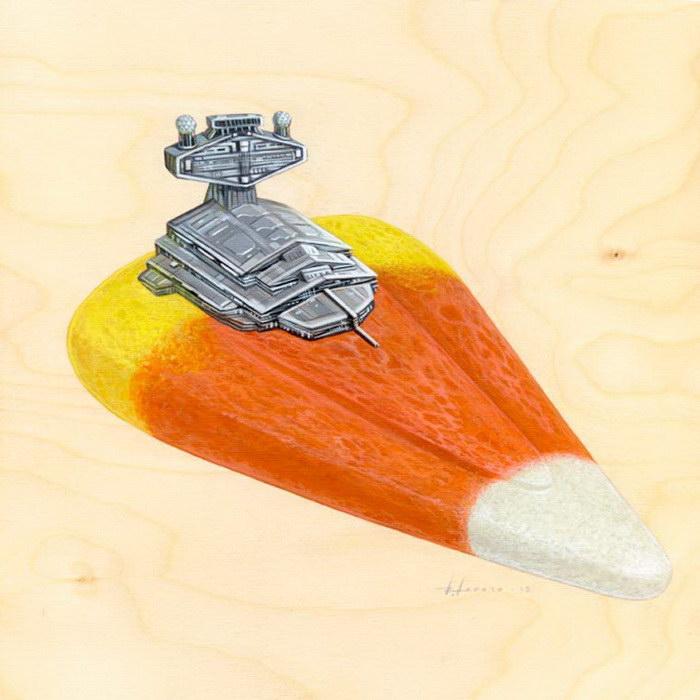 Звездный разрушитель в виде тортиков и пирожков