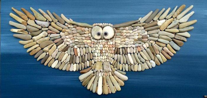 Мозаики из пляжных камушков: работы Stefano Furlani