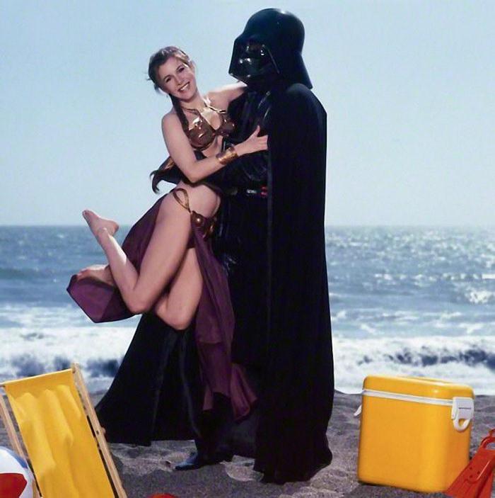 Фотосессия принцессы Леи в купальнике: снимки 1983 года