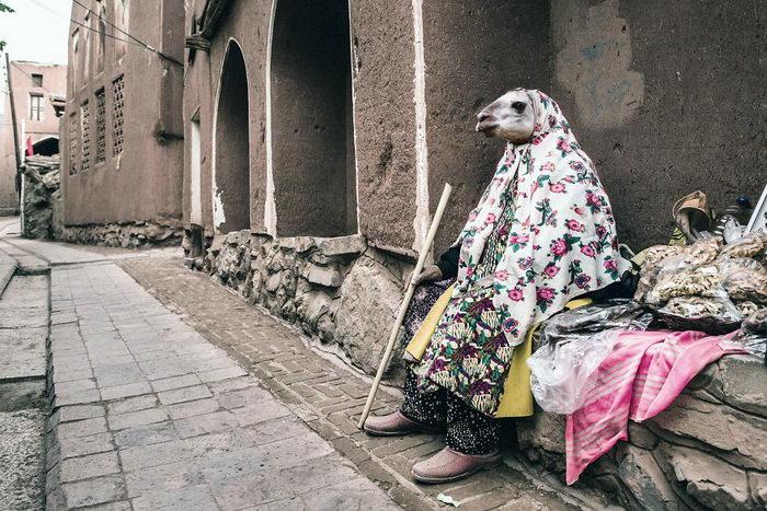 Люди с головами животных: проект Ahmad Habash