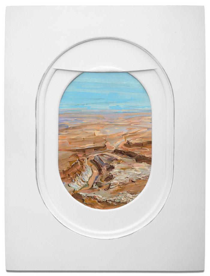 Иллюминаторы самолетов в картинах Jim Darling