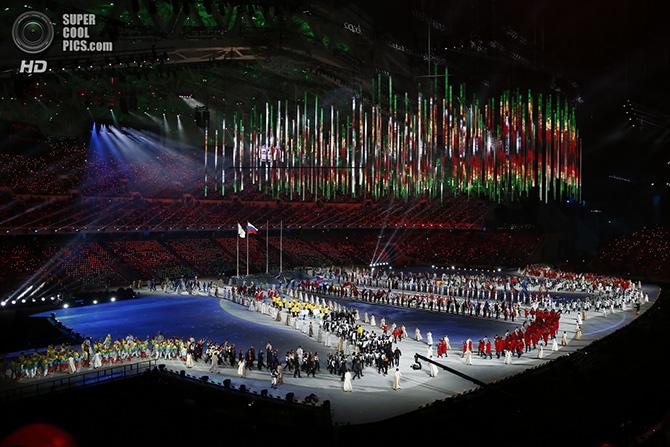 Церемония закрытия Олимпиады в Сочи 2014