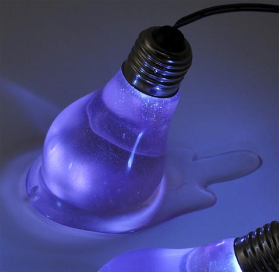 Расплавленные лампы накаливания как элемент декора