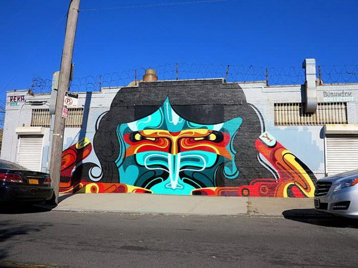 Стрит-арт австралийского художника James Reka