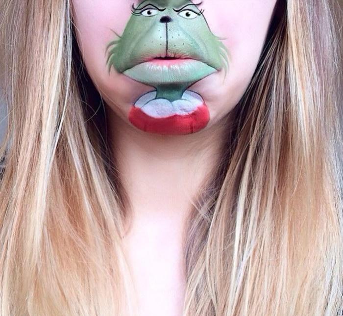 Мультяшные герои на губах Laura Jenkinson