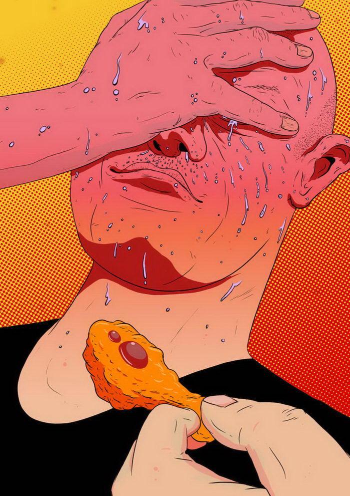 Цветное безумие в картинах Mike Hughes