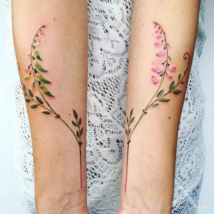 Цветочные татуировки Pis Saro