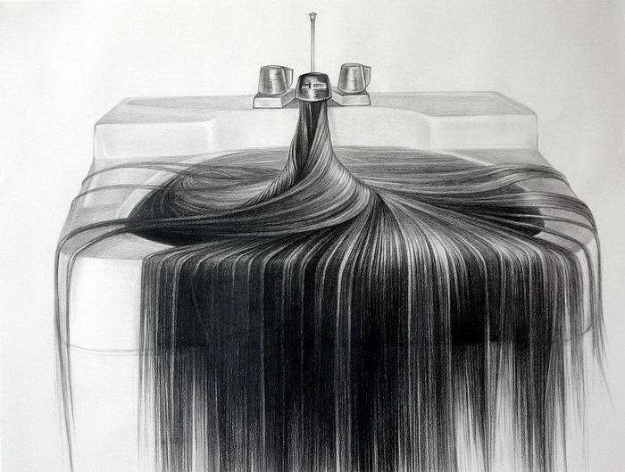 Волосяной арт Hong Chun Zhang