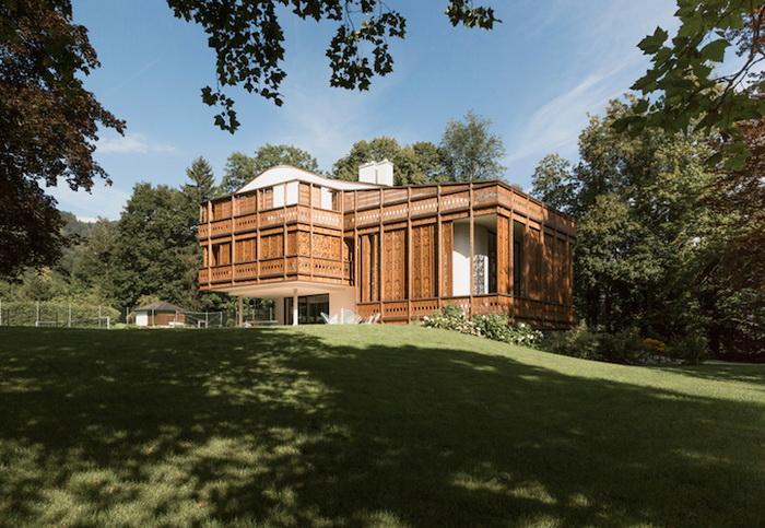 Невероятный фасад австрийского дома