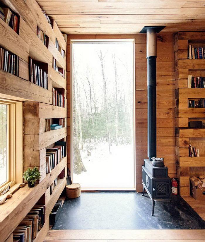 Тайная библиотека в лесах штата Нью-Йорк