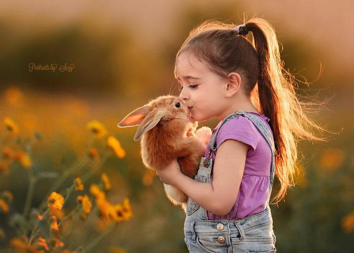 Девочка и ее любовь к животным: фото Suzy Mead