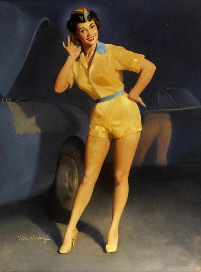 Отдыхающие девушки в иллюстрациях William Medcalf