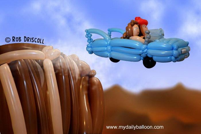 Культовые сцены фильмов, выполненные воздушными шарами