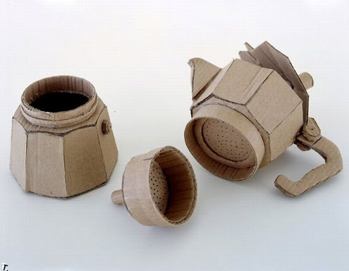 Креативные скульптуры из картона