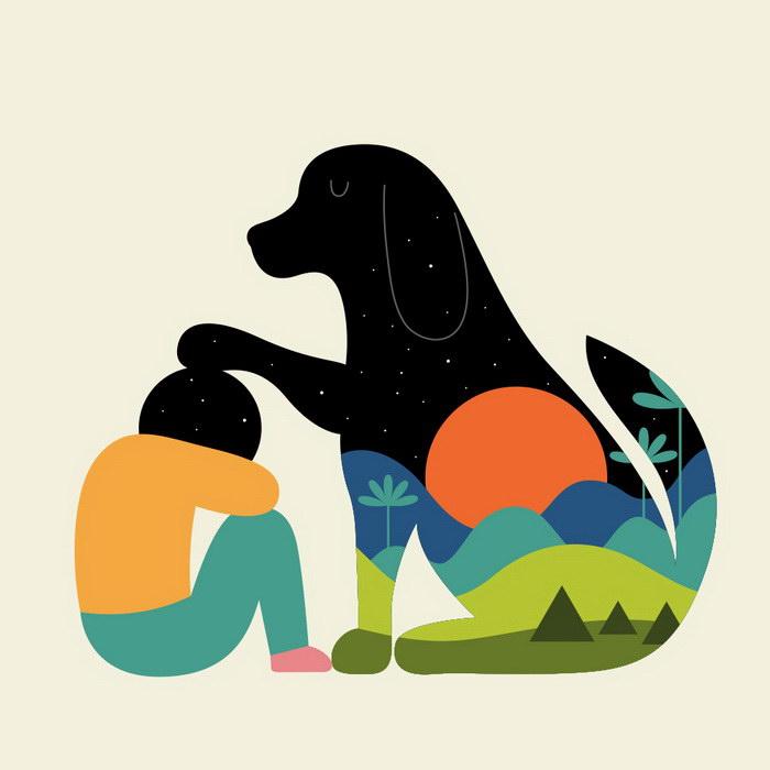 Стильные минималистичные иллюстрации Andy Westface