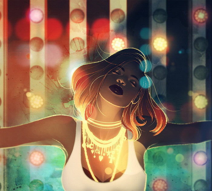 Цифровые иллюстрации художника kelogsloops