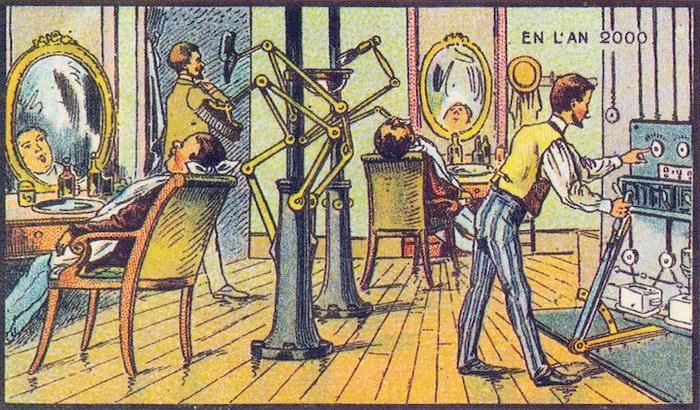 Открытки начала XX века, которые предсказали достижения современного мира