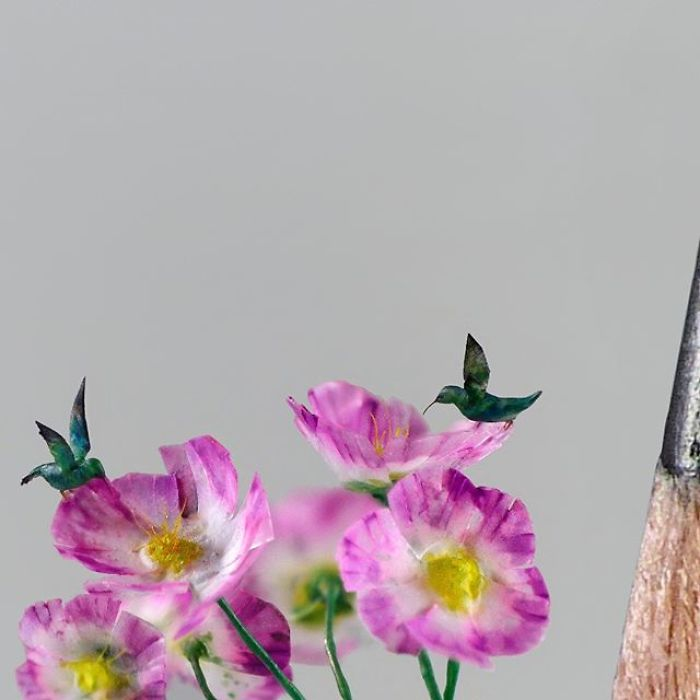 Микроскопические птички Marie Cohydon
