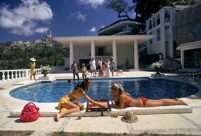Бассейны и богачи: серия фотографий Slim Aarons