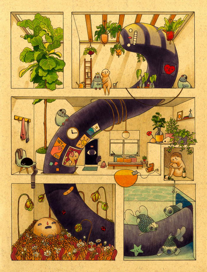 Суетный мир в иллюстрациях Felicia Chiao