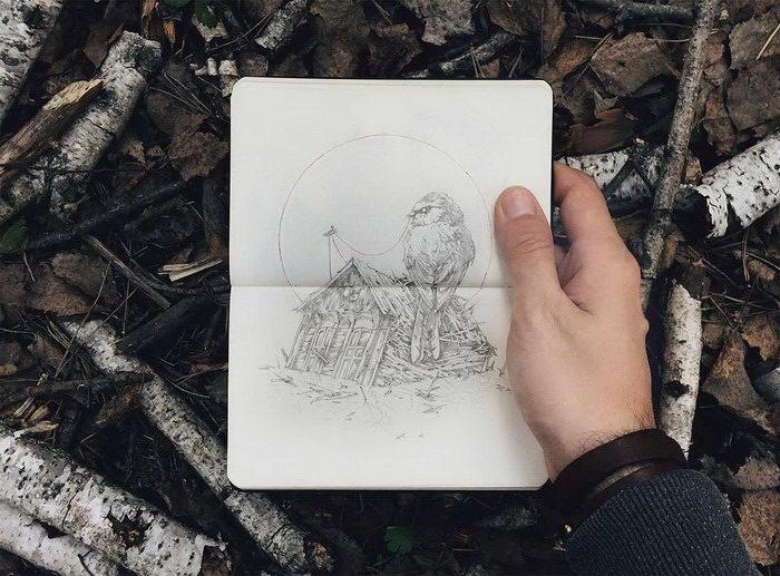 Стильные скетчи Ивана Беликова