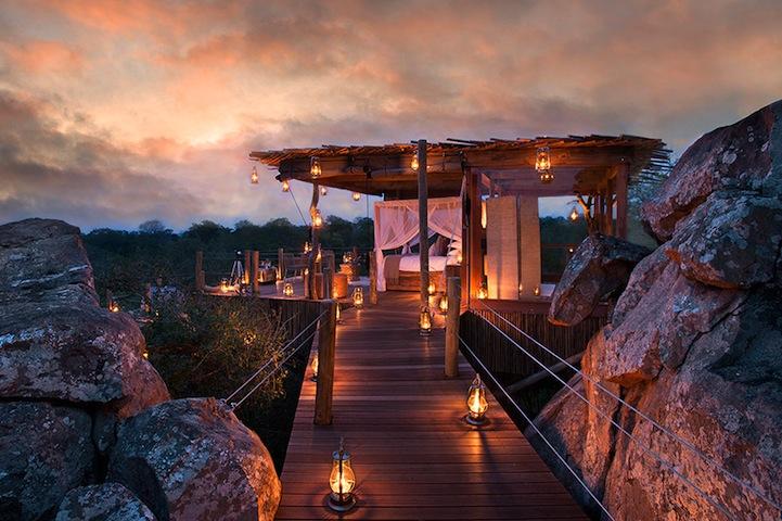 Роскошный отель The Lion Sands Game Reserve