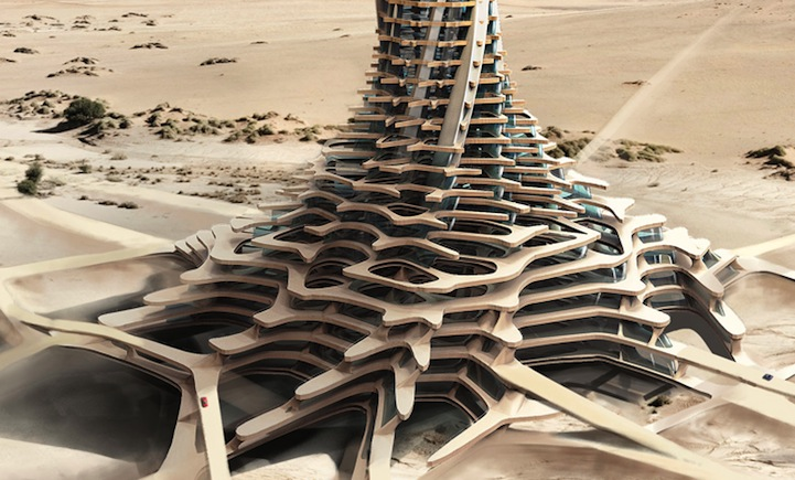 Небоскребы посреди пустыни: проект Sand Babel