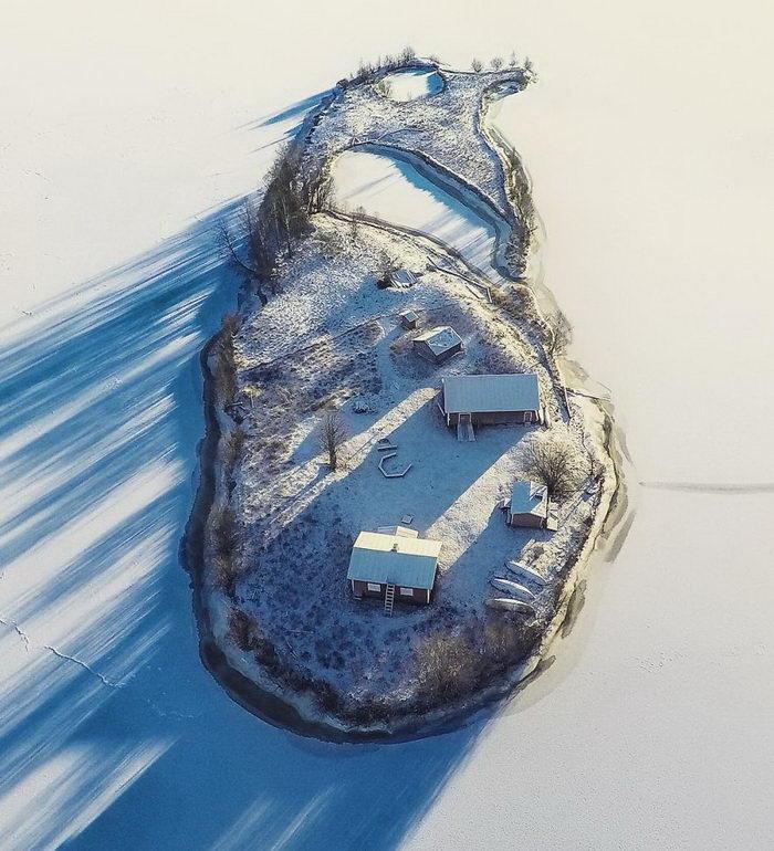 Финский остров в разное время года