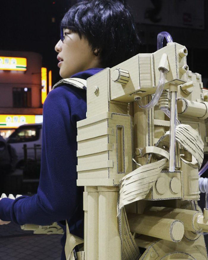 Картонные скульптуры Monomi Ohno