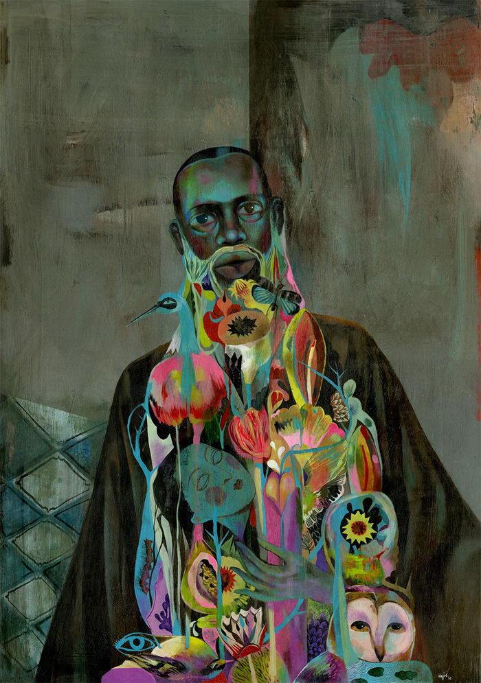 Портреты фантазийных людей Olaf Hajek