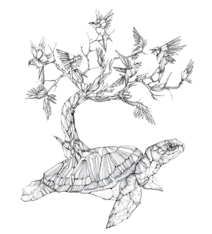 Птицы в рисунках Juli Jah