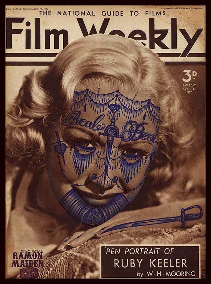 Татуировки на старых фотографиях Ramon Maiden