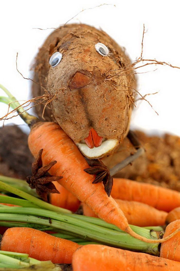 Превращения еды в животных: фото Vanessa Dualib