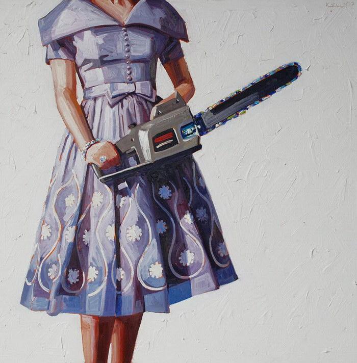 Коварные домохозяйки: картины Kelly Reemtsen