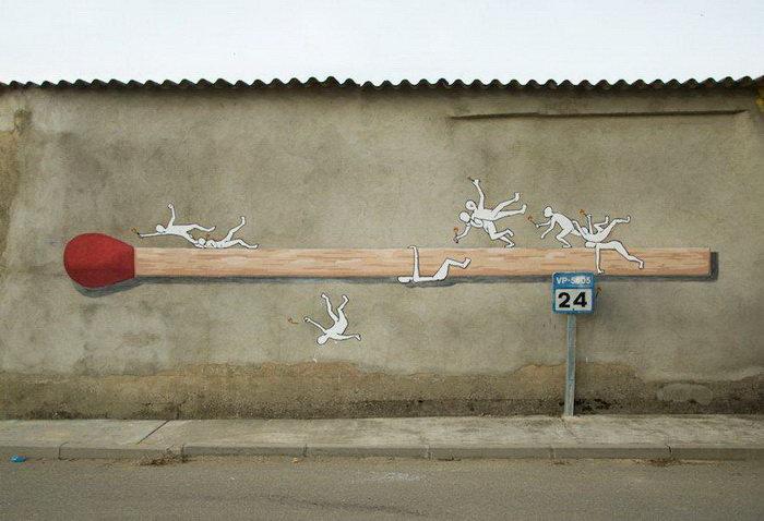 Огромные граффити повседневных предметов Ampparito