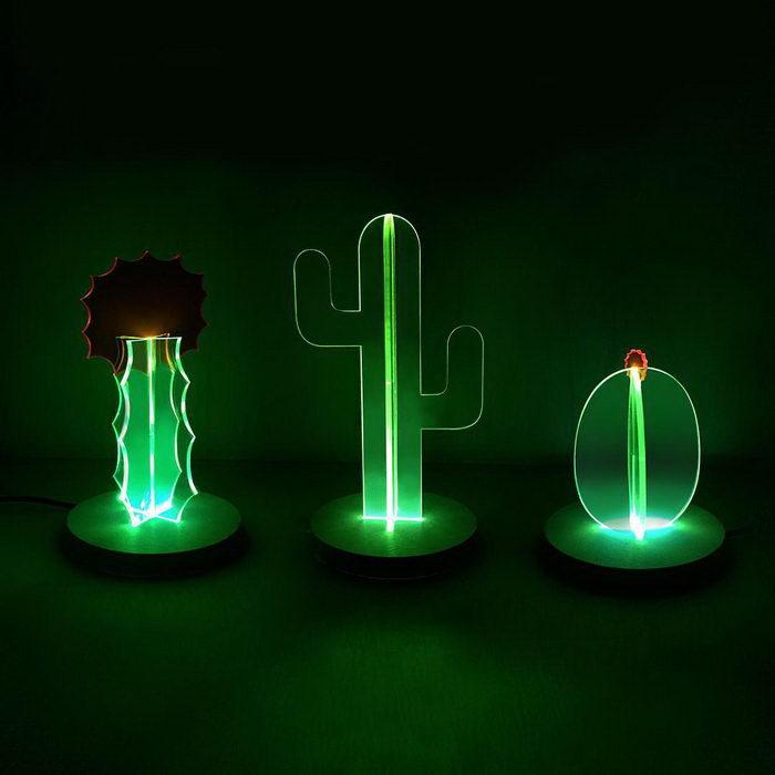 Светящиеся кактусы Nobel Truong