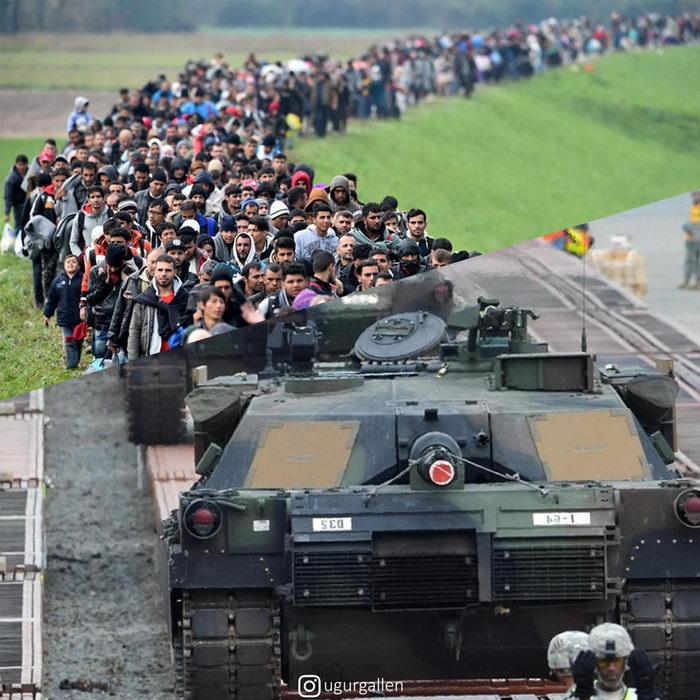 Дуальность мира в жестких коллажах Ugur Gallen