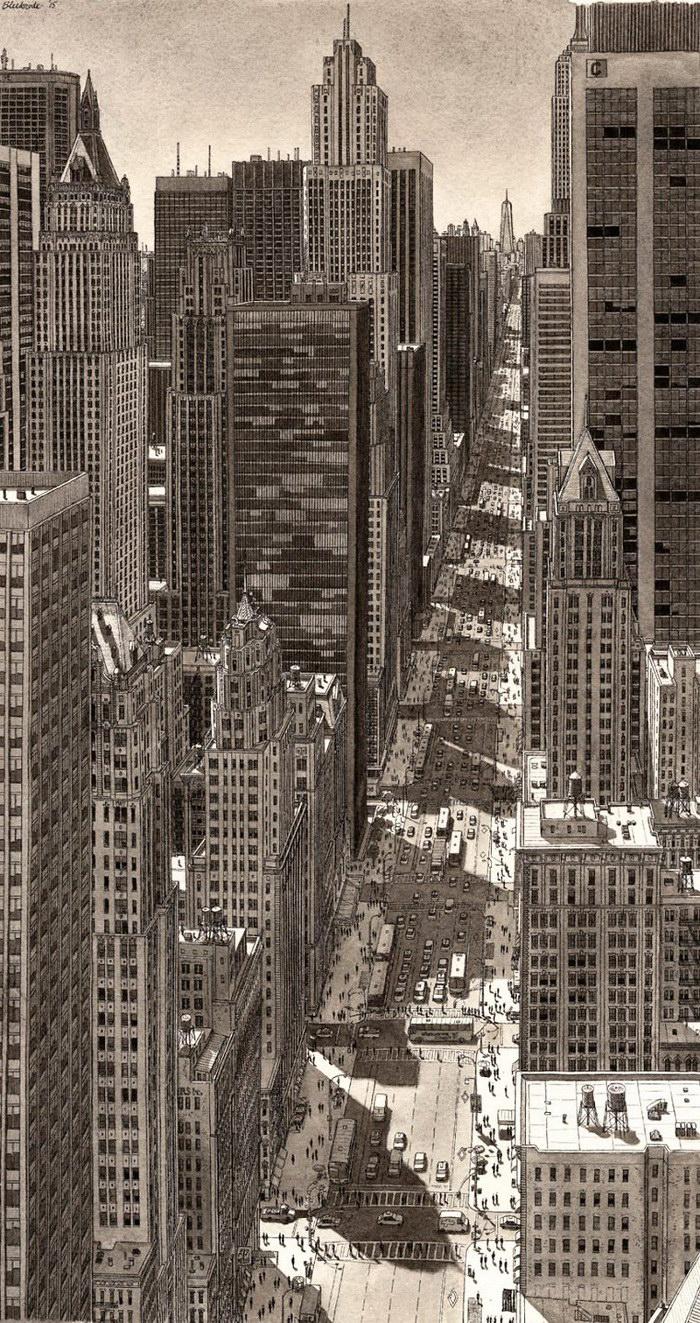 Рисунки городов по памяти Stefan Bleekrode