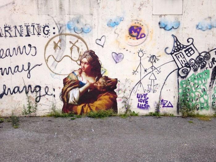 Уличное искусство Julien de Casabianca