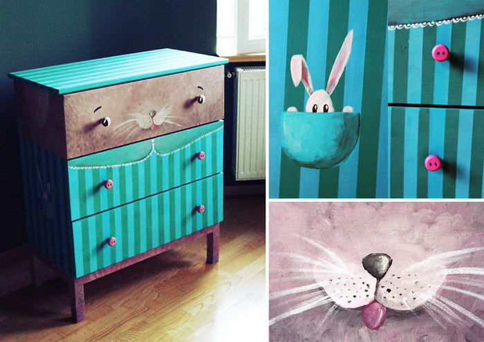 Разрисованная мебель Andra Badea